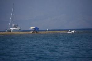 Foto della spiaggia ad est di Erikoussa